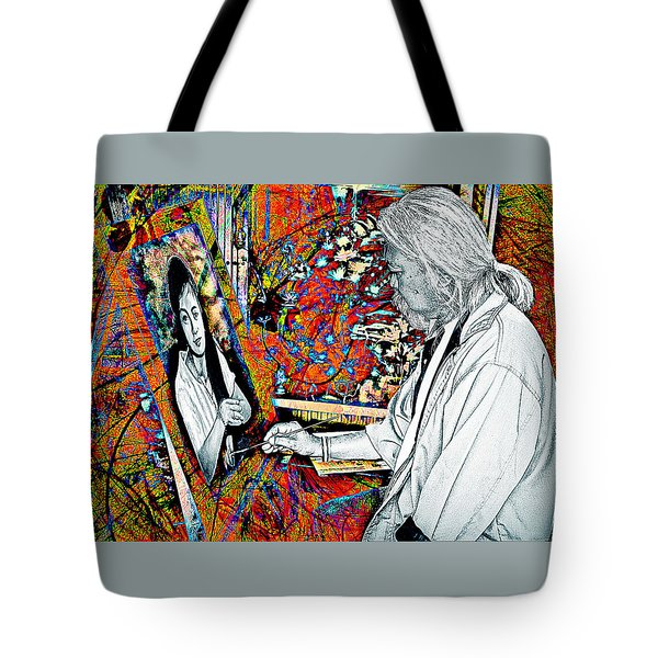 Artist In Abstract Tote Bag by Ian Gledhill