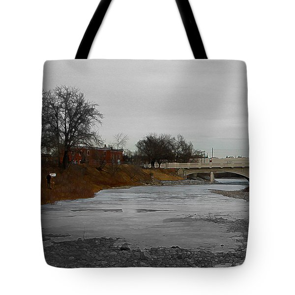 Tote Bag featuring the digital art Artist On The Bow by Stuart Turnbull