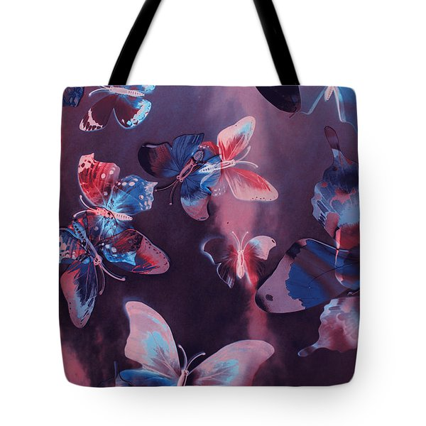 Artistic Colorful Butterfly Design Tote Bag