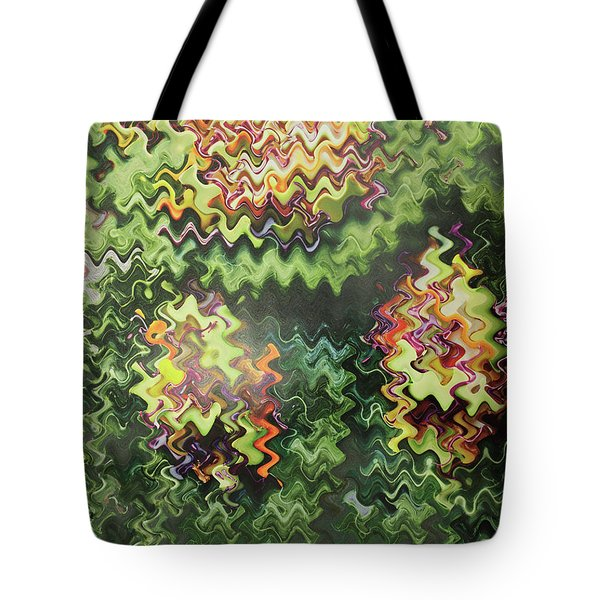 Tote Bag featuring the painting Artistic Digital Fineart Graphic Waves From Veggie Green Salad Christmas Birthday Holidays Mom Dad  by Navin Joshi