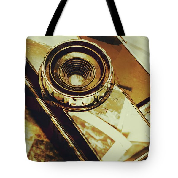 Artistic Double Exposure Of A Vintage Photo Tour Tote Bag