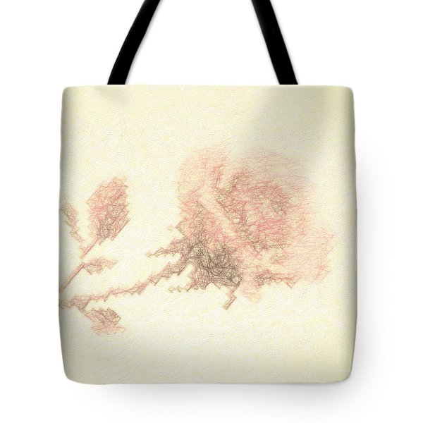 Tote Bag featuring the photograph Artistic Etched Rose by Linda Phelps
