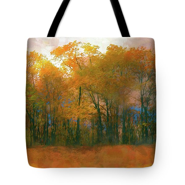 Tote Bag featuring the photograph Artistic Fall Colors In The Blue Ridge Ap by Dan Carmichael
