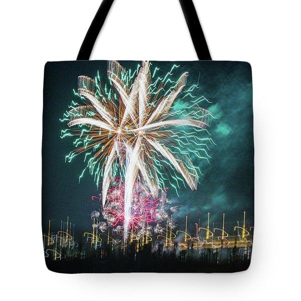 Artistic Fireworks Tote Bag