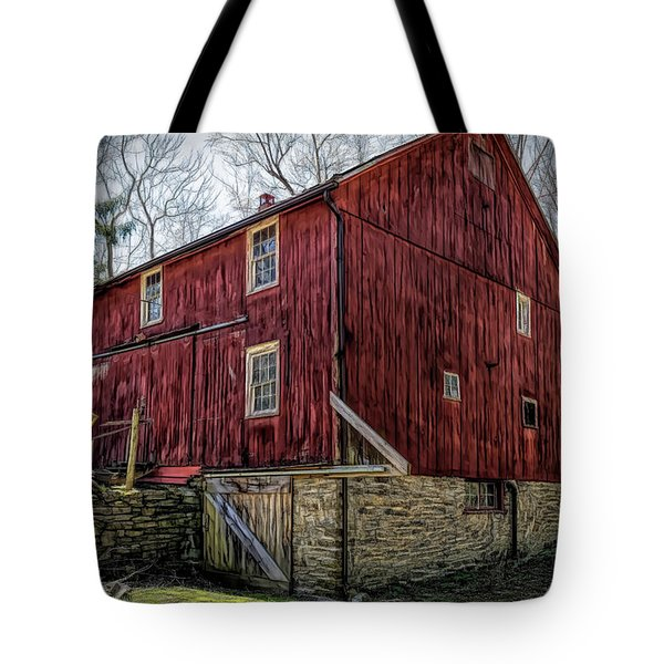 Artistic Old Red Barn Tote Bag