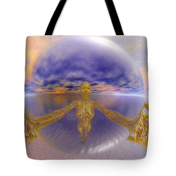 Artistic Selfie Tote Bag by Robby Donaghey