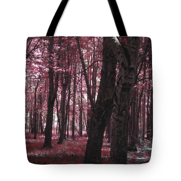 Tote Bag featuring the photograph Artistic Tree In Pink by Michelle Audas