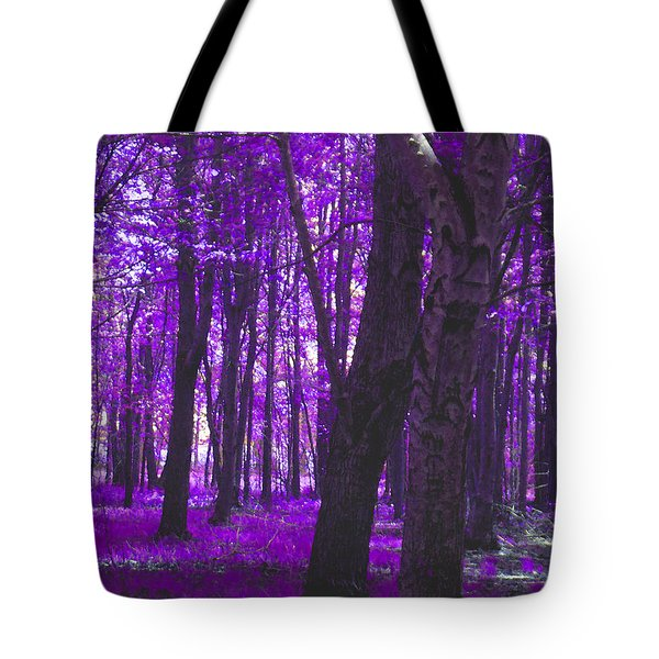 Tote Bag featuring the photograph Artistic Tree In Purple by Michelle Audas