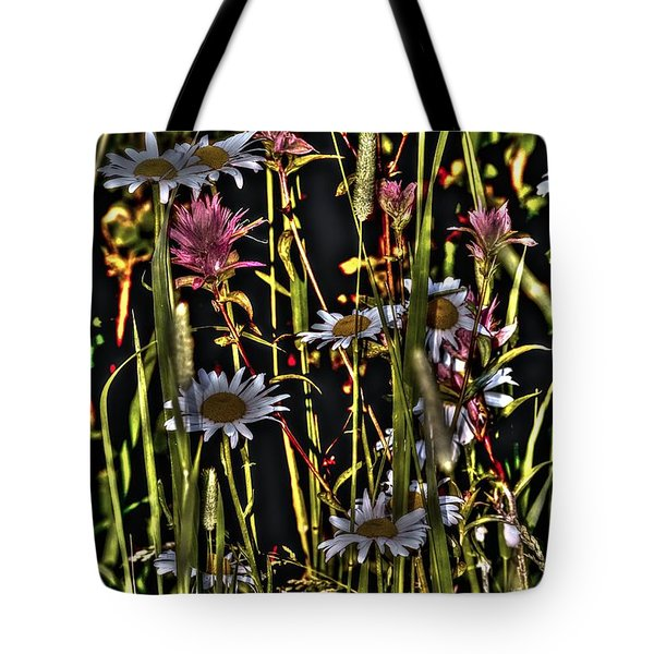 Artistic Wildflowers Tote Bag by Loni Collins