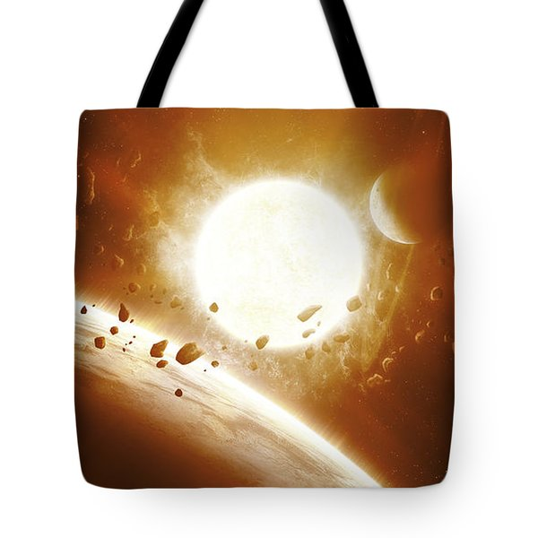 Artists Concept Of 51 Pegasi Tote Bag by Kevin Lafin