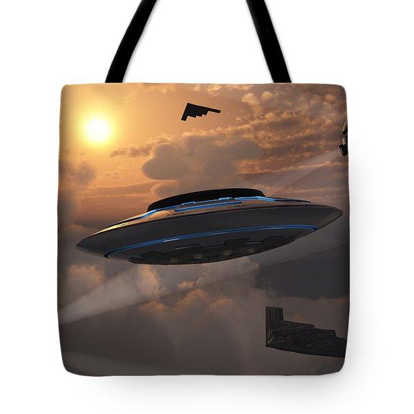Artists Concept Of Alien Stealth Tote Bag by Mark Stevenson