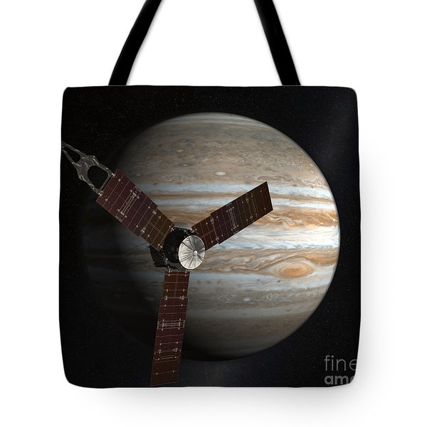 Artists Concept Of The Juno Spacecraft Tote Bag by Stocktrek Images