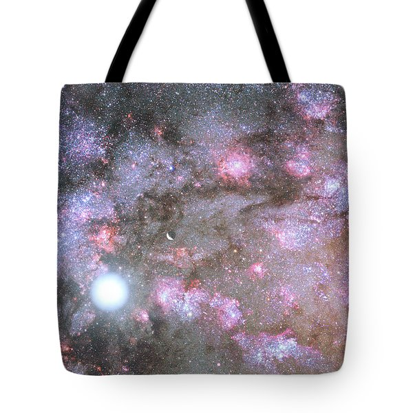 Tote Bag featuring the digital art Artist's View Of A Dense Galaxy Core Forming by Nasa