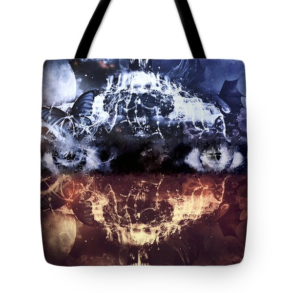 Tote Bag featuring the mixed media Artist's Vision by Al Matra