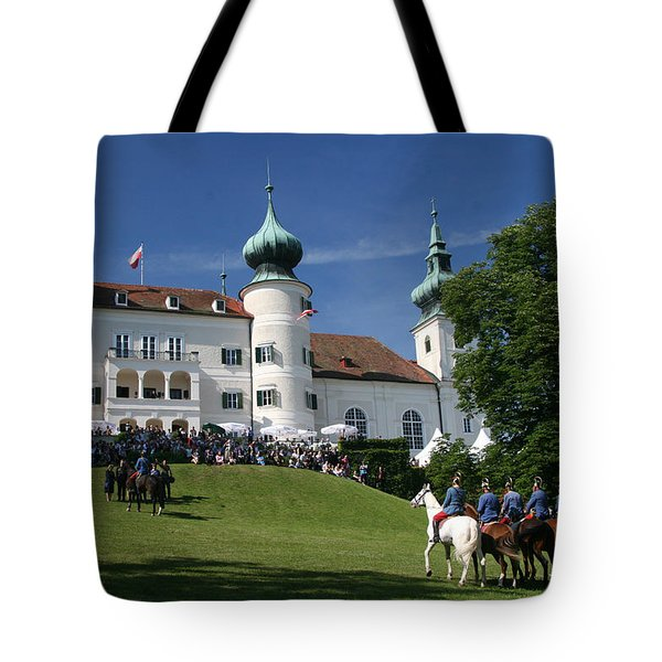 Tote Bag featuring the photograph Artstetten Castle In June by Travel Pics