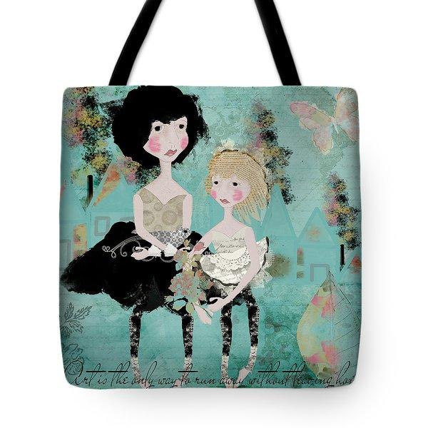 Artsy Girls Tote Bag by Diana Boyd