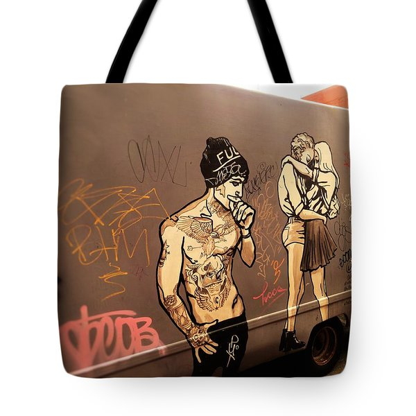 Artsy Love Scenes On New York Truck Tote Bag
