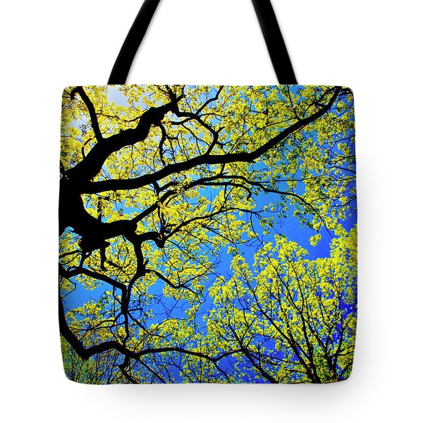 Artsy Tree Canopy Series, Early Spring - # 01 Tote Bag