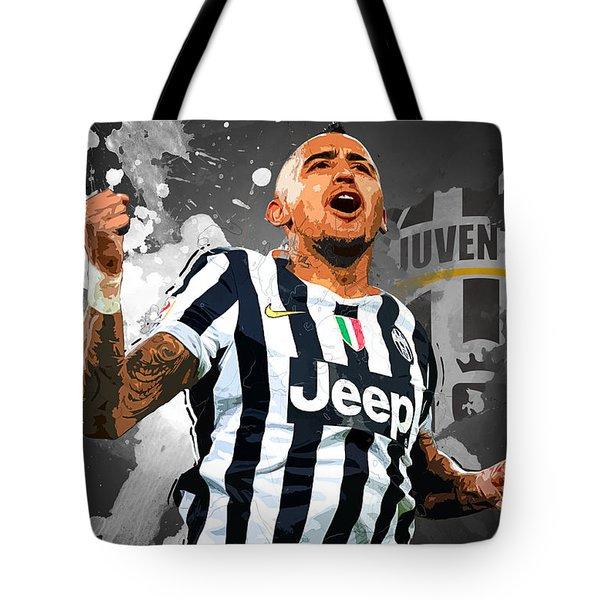 Arturo Vidal Tote Bag by Semih Yurdabak