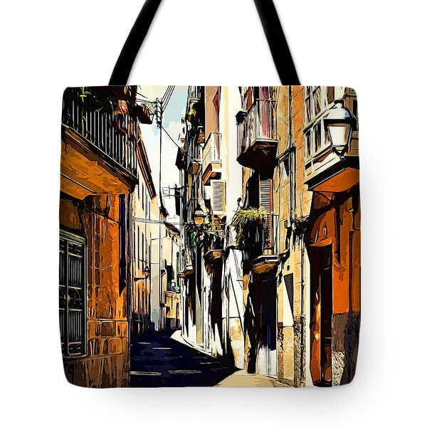 Artwork Palma De Mallorca Spain Tote Bag