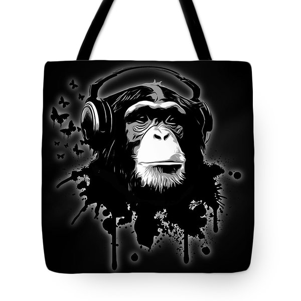 Monkey Business - Black Tote Bag by Nicklas Gustafsson
