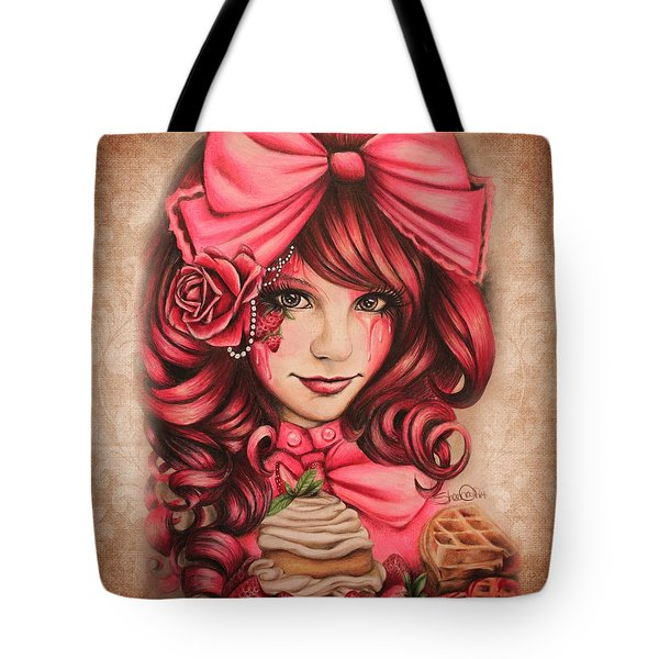 Strawberry Tote Bag by Sheena Pike