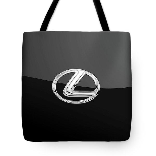 Lexus - 3d Badge On Black Tote Bag