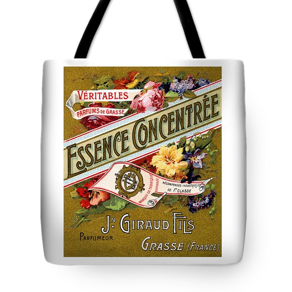 1915 Essence Concentree French Perfume Tote Bag