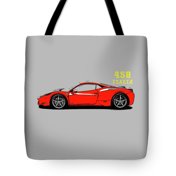 Ferrari 458 Italia Tote Bag by Mark Rogan
