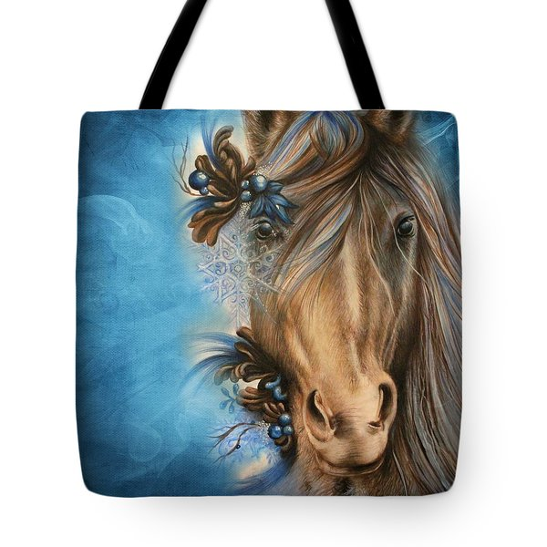 Pretty Blue Tote Bag by Sheena Pike