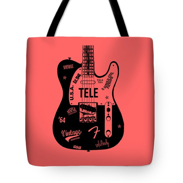 Fender Telecaster 64 Tote Bag by Mark Rogan