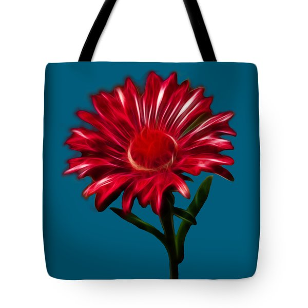 Red Daisy Tote Bag