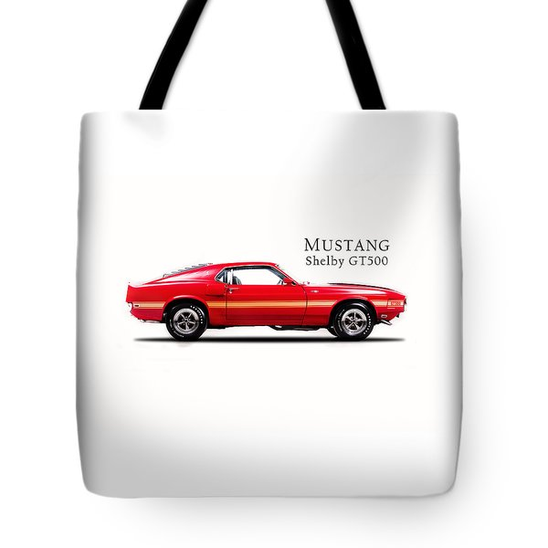Ford Mustang Shelby Gt500 1969 Tote Bag by Mark Rogan