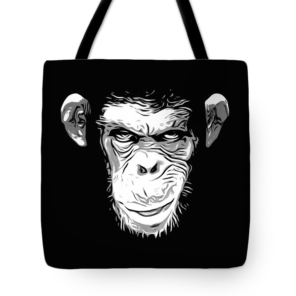 Evil Monkey Tote Bag by Nicklas Gustafsson
