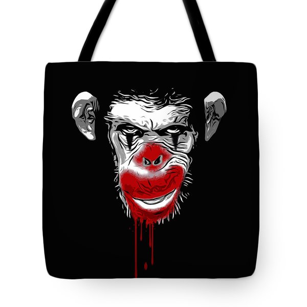 Evil Monkey Clown Tote Bag by Nicklas Gustafsson