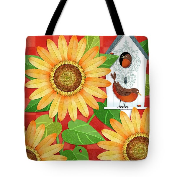 Sunflower Surprise Tote Bag