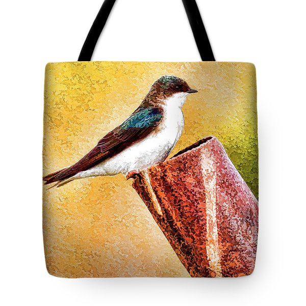 Male Tree Swallow No. 2 Tote Bag by Bill Kesler