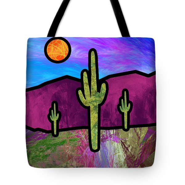 Desert Stained Glass Tote Bag
