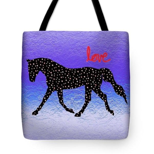 Horse Hearts And Love Tote Bag
