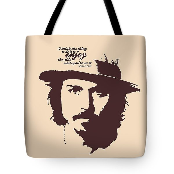 Johnny Depp Minimalist Poster Tote Bag by Lab No 4 - The Quotography Department