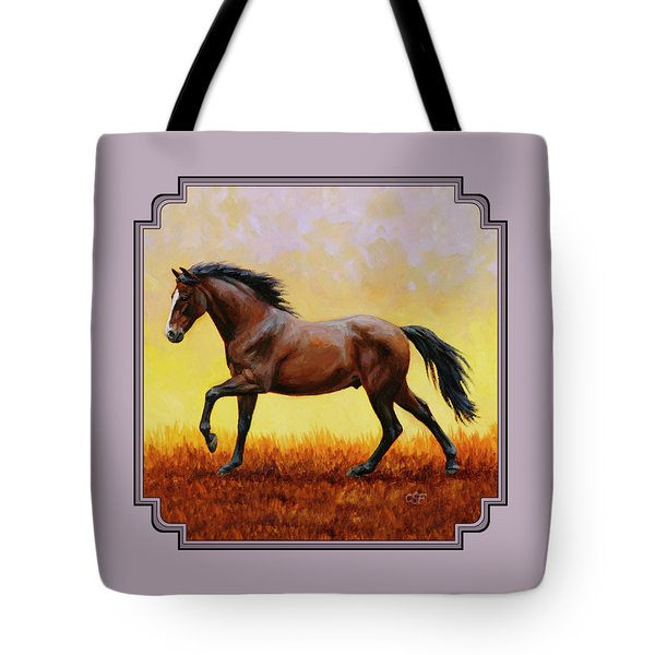 Midnight Sun Tote Bag by Crista Forest