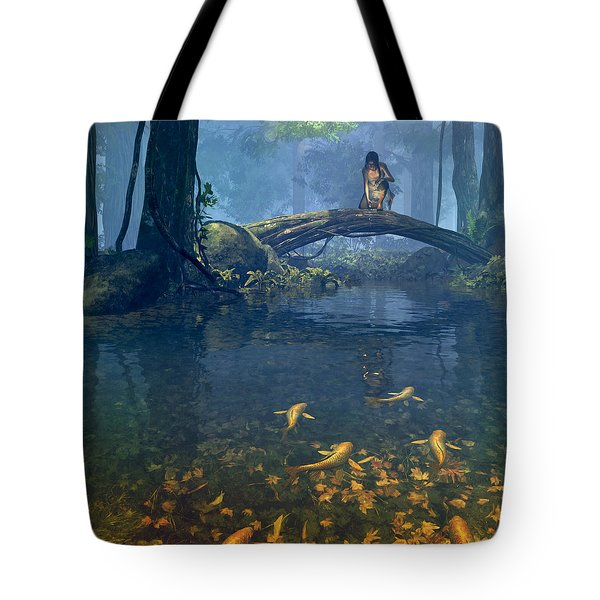 Lantern Bearer Tote Bag by Cynthia Decker