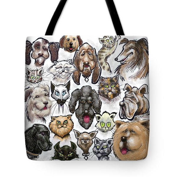 Cats N Dogs Tote Bag