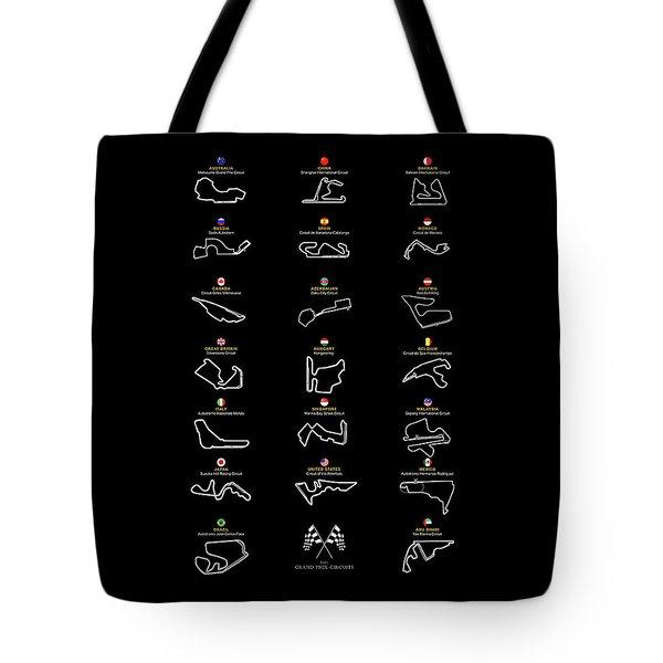 F1 Grand Prix Cicuits Tote Bag