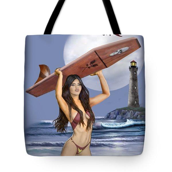 Little Surfer Ghoul Tote Bag