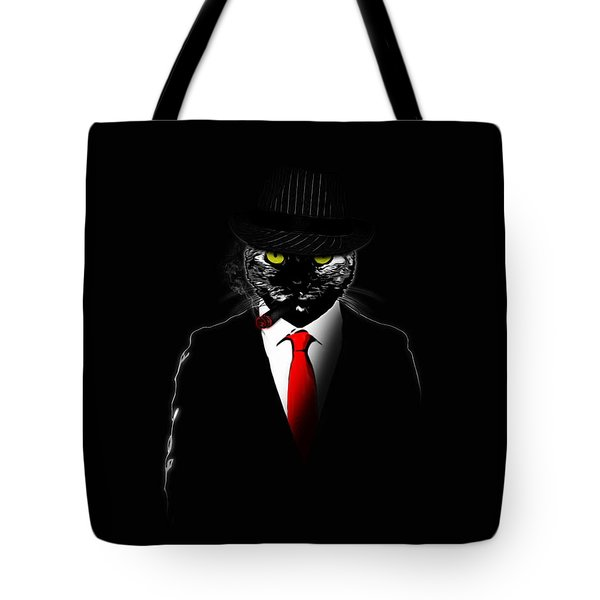 Mobster Cat Tote Bag