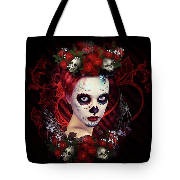 Sugar Doll Red Tote Bag