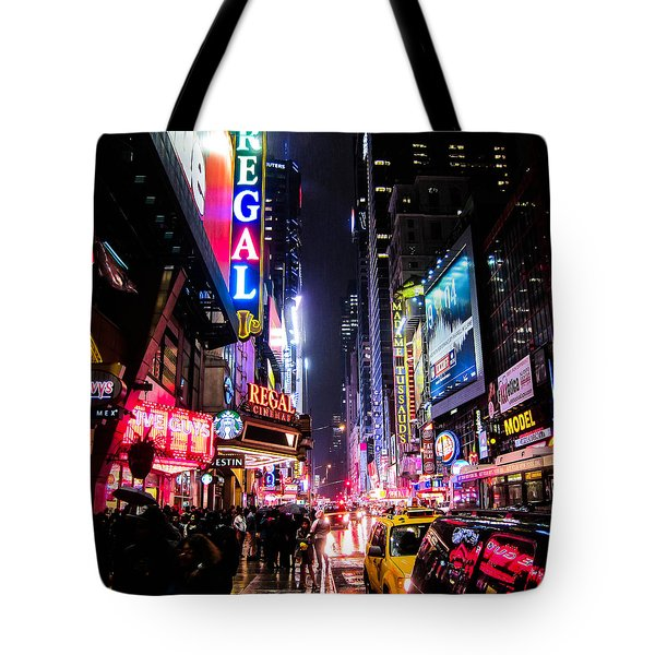 New York City Night Tote Bag by Nicklas Gustafsson