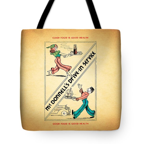 Mcdonnells Drive In 1948 Tote Bag