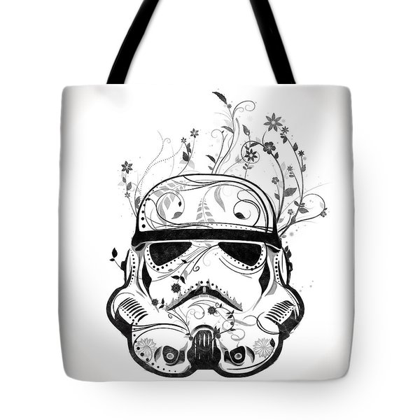Flower Trooper Tote Bag